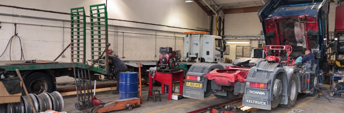 HGV vehicle maintenance area