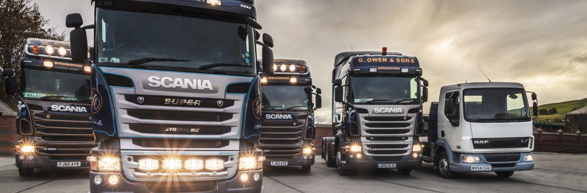 The G Owen & Sons Haulage Fleet