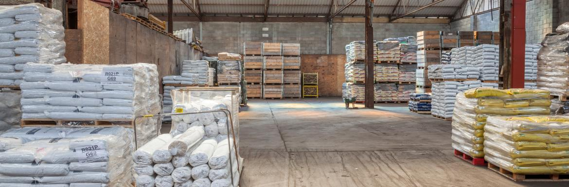 Covered Pallet Storage in Powys, Wales